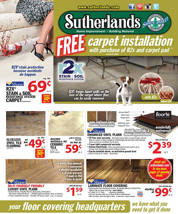 Ad for Sutherlands building packages